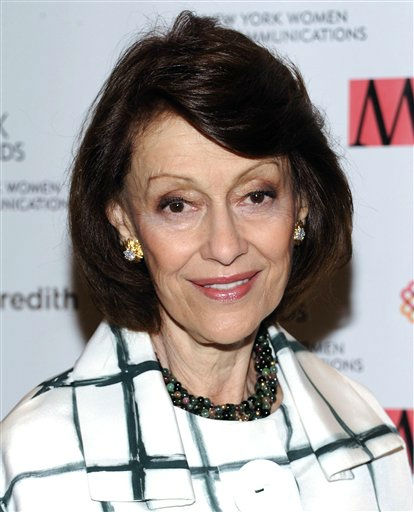 "<div class=""meta image-caption""><div class=""origin-logo origin-image ""><span></span></div><span class=""caption-text"">In this April 11, 2011 file photo, Evelyn Lauder attends the New York Women in Communications' 2011 Matrix Awards at the Waldorf-Astoria Hotel in New York. Evelyn Lauder, a member of the Estee Lauder cosmetics family who helped create the pink ribbon symbol for breast cancer awareness, has died, Saturday, Nov. 12, 2011. She was 75. (AP Photo/Evan Agostini, File) (AP Photo/ Evan Agostini)</span></div>"