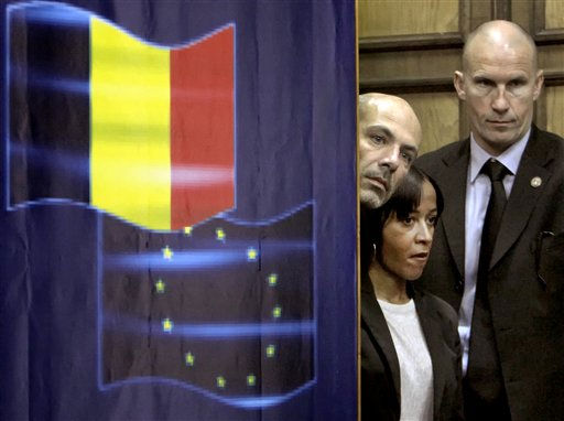 "<div class=""meta ""><span class=""caption-text "">French security personnel examine the audience before a joint press conference by France's Interior Minister Claude Gueant and Romanian counterpart Traian Igas, none pictured in Bucharest, Romania, Monday, April 18, 2011. Gueant said, referring to the border incident with Italy, that France respects the text of the Schengen agreement which specifies that only travelers who can prove they have the financial means to support themselves are allowed free movement in the space.(AP Photo/Vadim Ghirda) (AP Photo/ Vadim Ghirda)</span></div>"