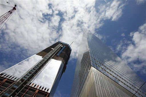 One World Trade Center, left, also known as the Freedom Tower, and 7WTC are shown, Saturday, April 30, 2011 in New York. &#40;AP Photo&#47;Mark Lennihan&#41; <span class=meta>(AP Photo&#47; Mark Lennihan)</span>