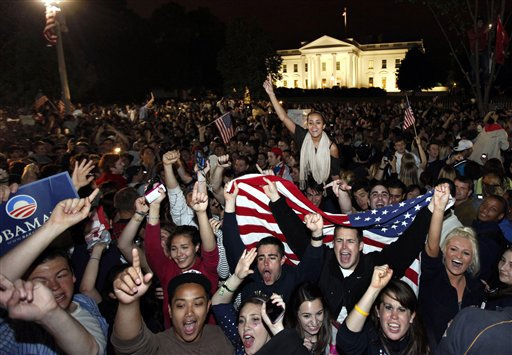 Crowds gathers outside the White House in Washington early Monday, May 2, 2011, to celebrate after President Barack Obama announced the death of Osama bin Laden. &#40;AP Photo&#47;Manuel Balce Ceneta&#41; <span class=meta>(AP Photo&#47; Manuel Balce Ceneta)</span>