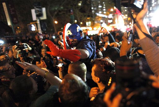 "<div class=""meta ""><span class=""caption-text "">A large, jubilant crowd reacts to the news of Osama Bin Laden's death at the corner of Church and Vesey Streets, adjacent to ground zero, during the early morning hours of Tuesday, May 2, 2011 in New York. (AP Photo/Jason DeCrow) (AP Photo/ Jason DeCrow)</span></div>"