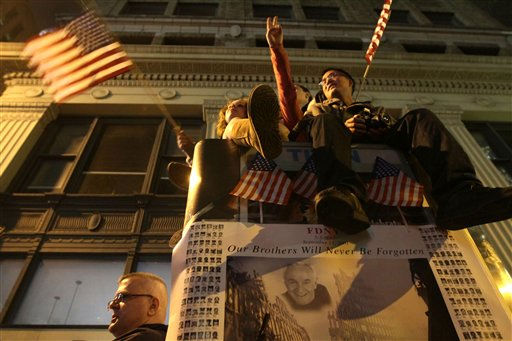 New Yorkers celebrate the death of Osama bin Laden