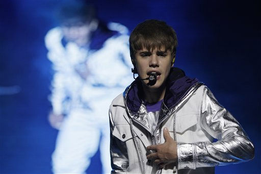 Canadian pop star Justin Bieber performs during his &#34;My World Tour&#34; concert in Manila, Philippines on Tuesday May 10, 2011. Bieber is in the country for a one-night concert. &#40;AP Photo&#47;Aaron Favila&#41; <span class=meta>(Photo&#47;AARON FAVILA)</span>