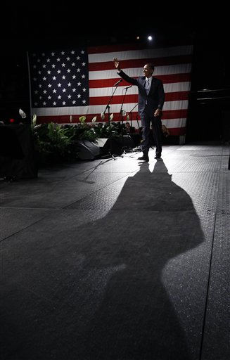 President Barack Obama walks on stage at a Democratic National Committee campaign fundraising event at Austin City Limits Moody Theater in Austin, Texas, Tuesday, May 10, 2011. &#40;AP Photo&#47;Charles Dharapak&#41; <span class=meta>(AP Photo&#47; Charles Dharapak)</span>