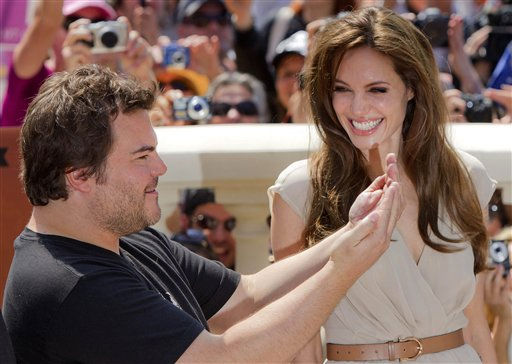 Actors Jack Black, left, and Angelina Jolie pose during a photo call for Kung Fu Panda 2, at the 64th international film festival, in Cannes, southern France, Thursday, May 12, 2011. &#40;AP Photo&#47;Joel Ryan&#41; <span class=meta>(AP Photo&#47; Joel Ryan)</span>
