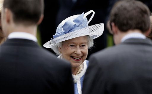"<div class=""meta ""><span class=""caption-text "">Britain's Queen Elizabeth II meets workers at the National Stud Farm in Kildare, Ireland, Thursday,  May 19, 2011. Queen Elizabeth II indulged in her love for horses on a trip to the Irish National Stud. The trip marked her first trip outside of Dublin and gavee her a chance to learn about Irish horse breeding. (AP Photo/Peter Morrison) (Photo/Peter Morrison)</span></div>"