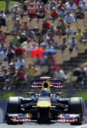 Red Bull driver Sebastian Vettel of Germany steers his car to win the Spanish Grand Prix at the Montmelo racetrack in Montmelo, Spain, Sunday, May 22, 2011. &#40;AP Photo&#47;Manu Fernandez&#41; <span class=meta>(AP Photo&#47; MANU FERNANDEZ)</span>