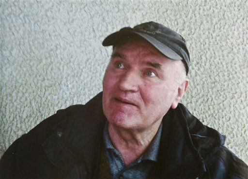 In this photo provided by the Politika Newspaper, Bosnian Serb army commander Ratko Mladic, who  was arrested Thursday, May 26, 2011, in Serbia after years in hiding. Genocide suspect Ratko Mladic in due in a Belgrade court for a hearing which is a legal step toward his extradition to a U.N. war crimes tribunal. Europe&#39;s most wanted war crimes fugitive was arrested Thursday in a northern Serbian village after 16 years on the run. The hearing is set for noon &#40;1000 GMT&#41; Friday, May 27, 2011. &#40;AP Photo&#47;Politika Newspaper&#41; EDITORIAL USE ONLY <span class=meta>(AP Photo&#47; Anonymous)</span>
