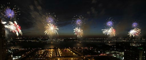 "<div class=""meta image-caption""><div class=""origin-logo origin-image ""><span></span></div><span class=""caption-text"">Fireworks explode over the Hudson River in New York, Monday, July 4, 2011.  (AP Photo/Seth Wenig) (AP Photo/ Seth Wenig)</span></div>"