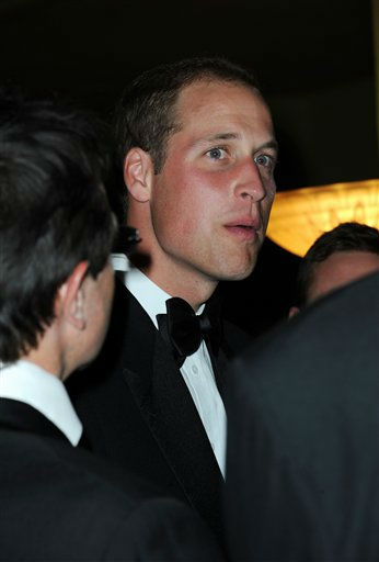Prince William talks with up-and-coming British actors, directors and producers, at the British Academy of Film and Television Arts &#40;BAFTA&#41; inaugural ``Brits to Watch&#39;&#39; dinner at the Belsaco Theater in downtown Los Angeles July 9, 2011.    <span class=meta>(&#40;AP Photo&#47;Valerie Macon, pool&#41;)</span>