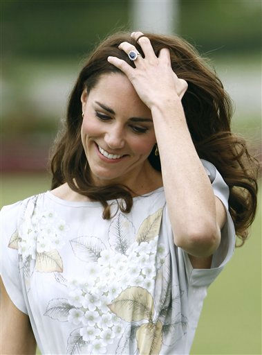 "<div class=""meta image-caption""><div class=""origin-logo origin-image ""><span></span></div><span class=""caption-text"">Kate, the Duchess of Cambridge arrives at a charity polo match at The Santa Barbara Polo & Racquet club on Saturday, July 9, 2011 in Carpinteria Calif.  The event is held in support of The American Friends of The Foundation of Prince William and Prince Harry. (AP Photo/Matt Sayles) (AP Photo/ Matt Sayles)</span></div>"