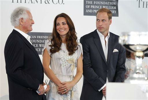Former Ambassador to Jamaica Glen Holden, left, stands with  Prince William and Kate, the Duke and Duchess of Cambridge, at a charity polo match at the Santa Barbara Polo &amp; Racquet Club in Carpinteria, Calif., on Saturday, July 9, 2011. The event is held in support of The American Friends of The Foundation of Prince William and Prince Harry. &#40;AP Photo&#47;Alex Gallardo, pool&#41; <span class=meta>(AP Photo&#47; Alex Gallardo)</span>
