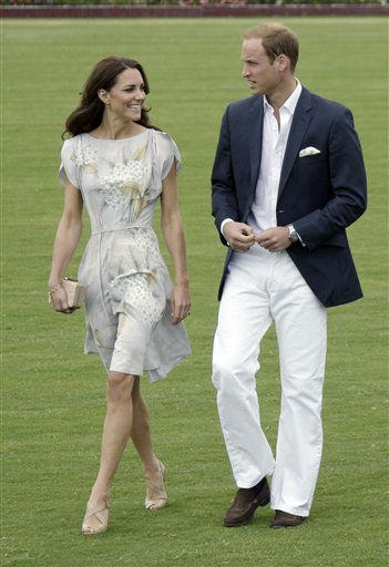 Prince William and Kate, the Duke and Duchess of Cambridge, arrive at a charity polo match at the Santa Barbara Polo &amp; Racquet Club in Carpinteria, Calif., Saturday, July 9, 2011.  The event is held in support of The American Friends of The Foundation of Prince William and Prince Harry.  &#40;AP Photo&#47;Reed Saxon&#41; <span class=meta>(AP Photo&#47; Reed Saxon)</span>
