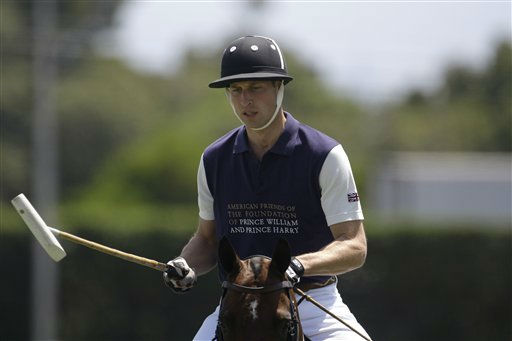 Prince William, Duke of Cambridge, warms up prior to the charity polo match at The Santa Barbara Polo &amp; Racquet club on Saturday, July 9, 2011 in Carpinteria Calif.  The event is held in support of The American Friends of The Foundation of Prince William and Prince Harry. &#40;AP Photo&#47;Jae Hong&#41; <span class=meta>(AP Photo&#47; Jae Hong)</span>