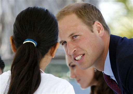"<div class=""meta image-caption""><div class=""origin-logo origin-image ""><span></span></div><span class=""caption-text"">Prince William and Kate, the Duke and Duchess of Cambridge, greet students as they arrive at Inner-City Arts during their royal tour of California in Los Angeles, Sunday, July 10, 2011. (AP Photo/Matt Sayles) (AP Photo/ Matt Sayles)</span></div>"