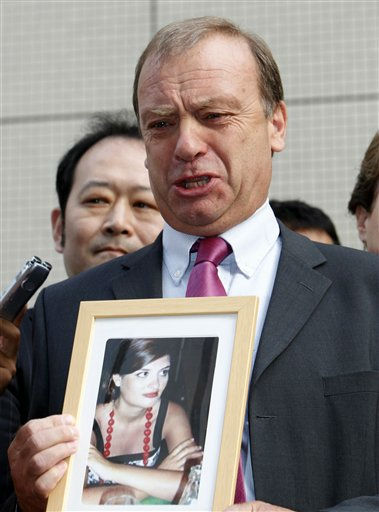 Bill Hawker, father of slain British teacher Lindsay Ann Hawker, speaks in front of the building of Chiba public prosecutors office after the trial of Tatsuya Ichihashi who was accused of raping and murdering his daughter, in Chiba, east of Tokyo, Japan, Thursday, July 21, 2011. A Japanese court sentenced Ichihashi to life in prison Thursday for the 2007 death of 22-year-old Hawker, bringing to a close one of the country&#39;s highest-profile criminal cases in recent years.   &#40;AP Photo&#47;Shizuo Kambayashi&#41; <span class=meta>(AP Photo&#47; Shizuo Kambayashi)</span>