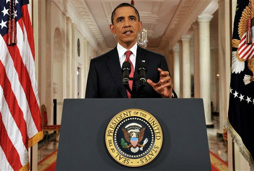 President Barack Obama addresses the nation from the East Room of the White House in Washington, Monday, July 25, 2011, on the approaching debt limit deadline. &#40;AP Photo&#47;Jim Watson, Pool&#41; <span class=meta>(AP Photo&#47; Jim Watson)</span>