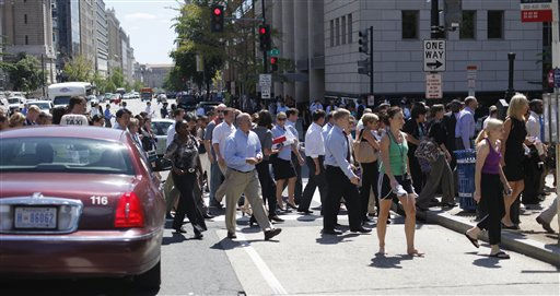 "<div class=""meta ""><span class=""caption-text "">Pedestrians cross an intersection of downtown Washington, Tuesday, Aug. 23, 2011, after office buildings where evacuated following a reported 5.9 earthquake was felt in Washington. The earthquake centered northwest of Richmond, Va., shook much of Washington, D.C., and was felt as far north as Rhode Island and New York City. (AP Photo/Pablo Martinez Monsivais) (AP Photo/ Pablo Martinez Monsivais)</span></div>"