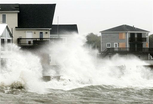 "<div class=""meta ""><span class=""caption-text "">Waves crash along a seawall as Tropical Storm Irene, downgraded from a hurricane, slammed into Fairhaven , Mass. Sunday, Aug. 28, 2011. From North Carolina to New Jersey, Hurricane Irene appeared to have fallen short of the doomsday predictions, but more than 4.5 million homes and businesses along the East Coast reportedly lost power, and at least 11 deaths were blamed on the storm. (AP Photo/Winslow Townson) (AP Photo/ Winslow Townson)</span></div>"