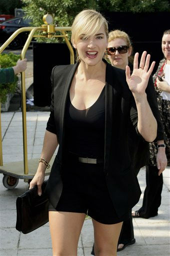 British actress Kate Winslet arrives at the 68th edition of the Venice Film Festival in Venice, Italy, Friday, Sept. 2, 2011. &#40;AP Photo&#47;Jonathan Short&#41; <span class=meta>(AP Photo&#47; Jonathan Short)</span>