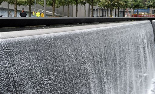 A view of the World Trade Center North Tower memorial pool at the National September 11 Memorial and Museum in New York, Tuesday, Sept. 6, 2011.  &#40;AP Photo&#47;Susan Walsh, POOL&#41; <span class=meta>(AP Photo&#47; Susan Walsh)</span>