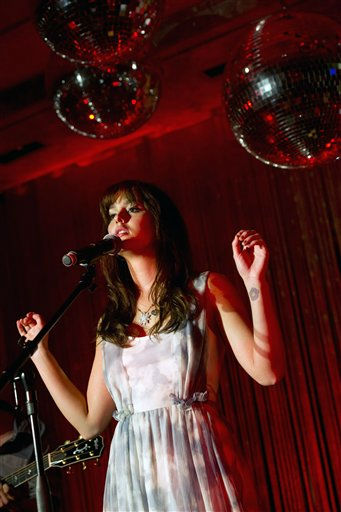 Leighton Meester performs at Tiffany &amp; Co. as part of Fashion?s Night Out in New York, Thursday, Sept. 8, 2011. &#40;AP Photo&#47;Charles Sykes&#41; <span class=meta>(AP Photo&#47; Charles Sykes)</span>