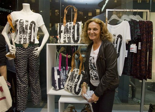 "<div class=""meta image-caption""><div class=""origin-logo origin-image ""><span></span></div><span class=""caption-text"">Designer Diane Von Furstenberg reacts during a party for Fashion's Night Out at her shop in New York, Thursday, Sept. 8, 2011. (AP Photo/Dan Balilty) (Photo/Dan Balilty)</span></div>"