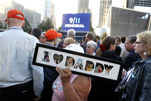 "<div class=""meta ""><span class=""caption-text "">Friends and relatives of the victims of 9/11 gather for a ceremony marking the 10th anniversary of the attacks at the National September 11 Memorial at the World Trade Center site, Sunday, Sept. 11, 2011, in New York. (AP Photo/Jason DeCrow) (AP Photo/ Jason DeCrow)</span></div>"