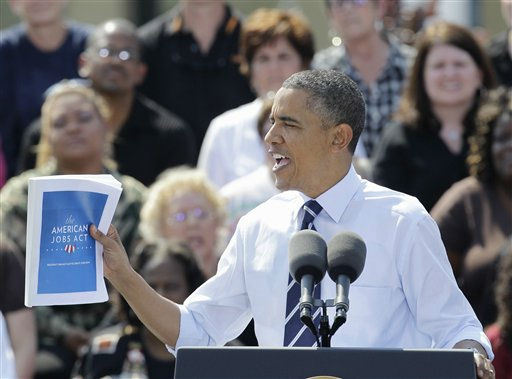 "<div class=""meta ""><span class=""caption-text "">President Barack Obama speaks about the American Jobs Act, Tuesday, Sept. 13, 2011, at Fort Hayes Arts and Academic High School in Columbus, Ohio. (AP Photo/Tony Dejak) (AP Photo/ Tony Dejak)</span></div>"