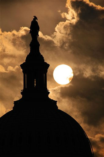 The dome of the U.S. Capitol with the Statue of Freedom at its top is seen at sunrise, in Washington, Thursday, Sept. 15, 2011.  &#40;AP Photo&#47;J. Scott Applewhite&#41; <span class=meta>(AP Photo&#47; J. Scott Applewhite)</span>
