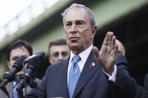 "<div class=""meta ""><span class=""caption-text "">New York City Mayor Michael Bloomberg speaks during a news conference Monday, Oct. 3, 2011  in New York, after a helicopter with five people aboard crashed into the East River after taking off from a launch pad on the riverbank, killing one passenger and injuring the others. (AP Photo/Karly Domb Sadof) (AP Photo/ Karly Domb Sadof)</span></div>"
