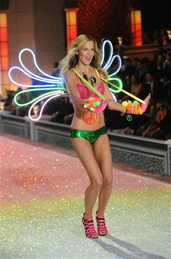 A model walks the runway during the Victoria&#39;s Secret fashion show in New York, Wednesday, Nov. 9, 2011. &#40;AP Photo&#47;Brad Barket&#41; <span class=meta>(AP Photo&#47; Brad Barket)</span>