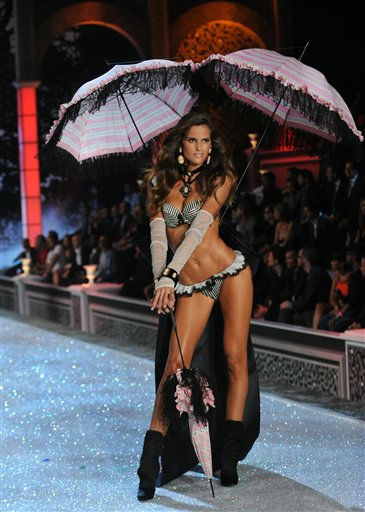 "<div class=""meta ""><span class=""caption-text "">A model walks the runway during the Victoria's Secret fashion show in New York, Wednesday, Nov. 9, 2011. (AP Photo/Brad Barket) (AP Photo/ Brad Barket)</span></div>"