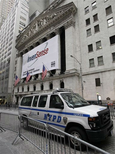 A New York City Police van is parked on a barricaded Broad Street in front of the New York Stock Exchange, Thursday, Nov. 17, 2011, to guard against part of a planned nationwide protest marking two months since the Occupy Wall Street movement began. &#40;AP Photo&#47;Richard Drew&#41; <span class=meta>(AP Photo&#47; Richard Drew)</span>