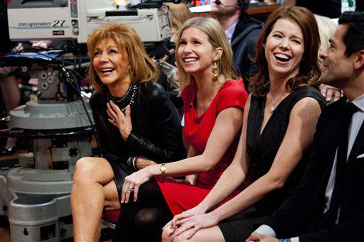 Regis&#39; wife, Joy Philbin, left, and his daughters, sit in the audience during Regis&#39; farewell episode of &#34;Live! with Regis and Kelly&#34;, in New York, Friday, Nov. 18, 2011.   After more then  28 years, Philbin signed off U.S. morning television on Friday, long after setting a world record for the most time on TV.   Philbin,  80,  has logged more than 17,000 hours on television in a career that dates back to the 1960s. He gained prime-time fame as host of &#34;Who Wants to Be a Millionaire&#34; a decade ago. But his enduring impact was as a morning show host, turning stories about something as simple as a dinner out on the town into compelling viewing.   &#40;AP Photo&#47;Charles Sykes&#41; <span class=meta>(AP Photo&#47; Charles Sykes)</span>