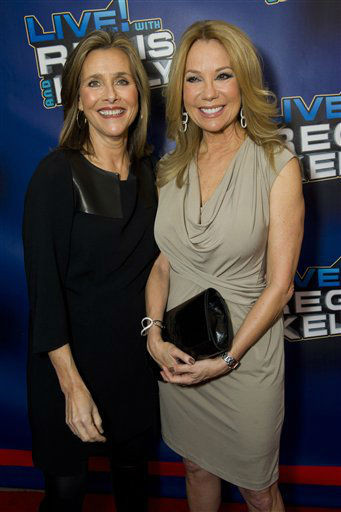 Meredith Vieira, left, and Kathie Lee Gifford arrive for Regis&#39; farewell episode of &#34;Live! with Regis and Kelly&#34;, in New York, Friday, Nov. 18, 2011. &#40;AP Photo&#47;Charles Sykes&#41; <span class=meta>(AP Photo&#47; Charles Sykes)</span>