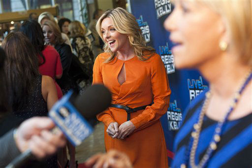 Jane Krakowski arrives for Regis&#39; farewell episode of &#34;Live! with Regis and Kelly&#34;, in New York, Friday, Nov. 18, 2011. &#40;AP Photo&#47;Charles Sykes&#41; <span class=meta>(AP Photo&#47; Charles Sykes)</span>