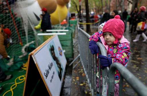 "<div class=""meta ""><span class=""caption-text "">Madeline Adams, 3, of New York watches as participants in Macy's department store's 85th annual parade inflate giant helium balloons, Wednesday, Nov. 23, 2011 in preparation for Thursday's parade in New York. (AP Photo/Craig Ruttle) (AP Photo/ Craig Ruttle)</span></div>"