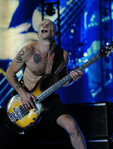 Flea from the U.S. rock band The Red Hot Chili Peppers performs during a concert in Barcelona, Spain, Thursday, Dec. 15, 2011. &#40;AP Photo&#47;Manu Fernandez&#41; <span class=meta>(AP Photo&#47; Manu Fernandez)</span>