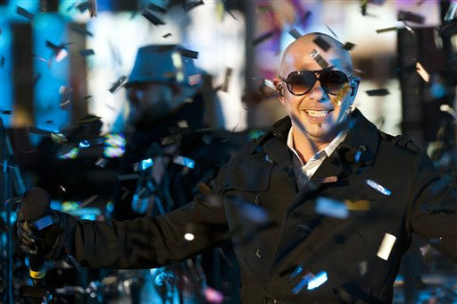 Pitbull performs in Times Square during New Year&#39;s Eve celebrations, Saturday, Dec. 31, 2011, in New York. &#40;AP Photo&#47;Charles Sykes&#41; <span class=meta>(AP Photo&#47; Charles Sykes)</span>