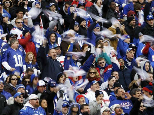 New York Giants fans cheer during the first half of an NFL wild card playoff football game between the Atlanta Falcons and the New York Giants Sunday, Jan. 8, 2012, in East Rutherford, N.J. &#40;AP Photo&#47;Matt Slocum&#41; <span class=meta>(AP Photo&#47; Matt Slocum)</span>