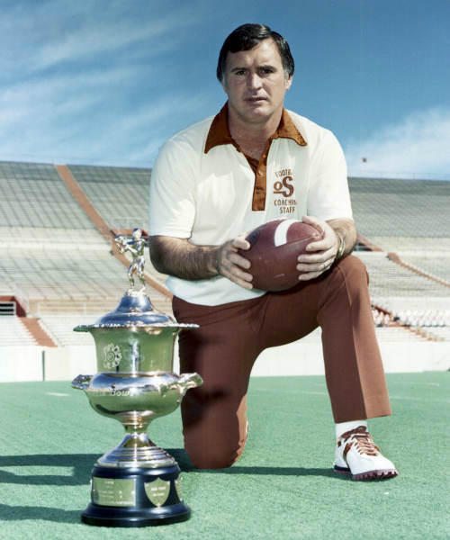 In this photo provided by Oklahoma State University, former Oklahoma State head football coach Jim Stanley is shown in Stillwater, Okla. Stanley died Thursday morning, Jan. 12, 2012, in Arizona after a two-year battle with cancer.  He was 77. &#40;AP Photo&#47;Oklahoma State University&#41; <span class=meta>(AP Photo&#47; Anonymous)</span>