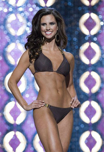 This Jan. 11, 2012 photo provided by Miss America shows Miss Texas, Kendall Morris during the second round Lifestyle and Fitness competition, where she won a &#36;1000 scholarship in Las Vegas. The finals are Saturday at the Planet Hollywood Resort &amp; Casino. &#40;AP Photo Miss America&#41; <span class=meta>(AP Photo&#47; Anonymous)</span>