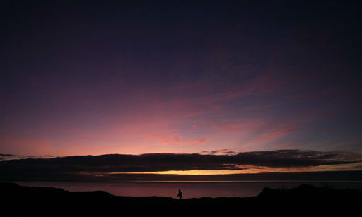 A man walks on a path at Fort Funston in San Francisco, Wednesday, Jan. 18, 2012. &#40;AP Photo&#47;Jeff Chiu&#41; <span class=meta>(AP Photo&#47; Jeff Chiu)</span>