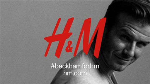 This advertisement provided by H&#38;M, shows English soccer star David Beckham posing for the David Beckham Bodywear Collection for an H&#38;M advertising campaign. H&#38;M will debut a 30-second ad during Super Bowl XLVI, Sunday, Feb. 5, 2012, featuring Beckham and his collection. &#40;AP Photo&#47;H&#38;M&#41; <span class=meta>(AP Photo&#47; Anonymous)</span>