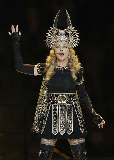 "<div class=""meta image-caption""><div class=""origin-logo origin-image ""><span></span></div><span class=""caption-text"">Madonna performs during halftime of the NFL Super Bowl XLVI football game between the New York Giants and New England Patriots, Sunday, Feb. 5, 2012, in Indianapolis. (AP Photo/Mark Humphrey) (AP Photo/ Mark Humphrey)</span></div>"