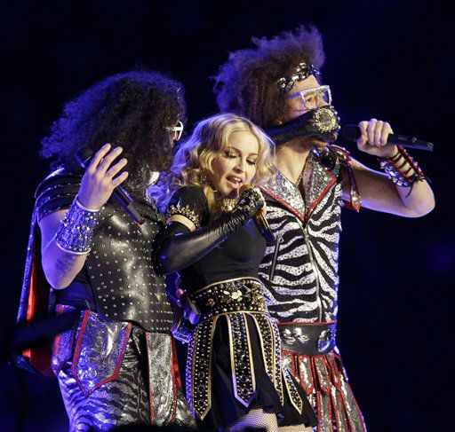 "<div class=""meta image-caption""><div class=""origin-logo origin-image ""><span></span></div><span class=""caption-text"">Madonna performs during halftime of the NFL Super Bowl XLVI football game between the New York Giants and the New England Patriots Sunday, Feb. 5, 2012, in Indianapolis. (AP Photo/Matt Slocum) (AP Photo/ Matt Slocum)</span></div>"
