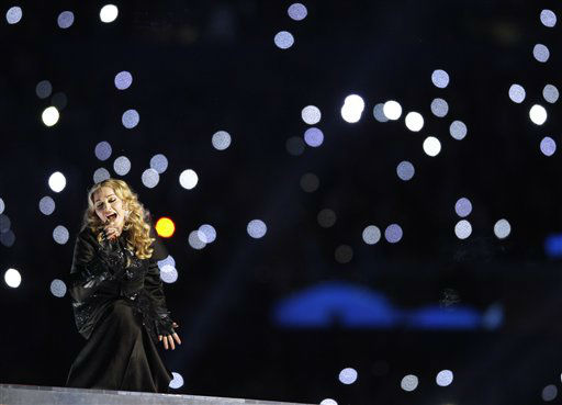 "<div class=""meta image-caption""><div class=""origin-logo origin-image ""><span></span></div><span class=""caption-text"">Madonna performs during halftime of the the NFL Super Bowl XLVI football game between the New York Giants and the New England Patriots, Sunday, Feb. 5, 2012, in Indianapolis. (AP Photo/Matt Slocum) (AP Photo/ Matt Slocum)</span></div>"