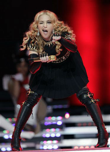 "<div class=""meta image-caption""><div class=""origin-logo origin-image ""><span></span></div><span class=""caption-text"">Madonna performs during halftime of the NFL Super Bowl XLVI football game between the New York Giants and the New England Patriots, Sunday, Feb. 5, 2012, in Indianapolis. (AP Photo/David J. Phillip) (AP Photo/ David J. Phillip)</span></div>"