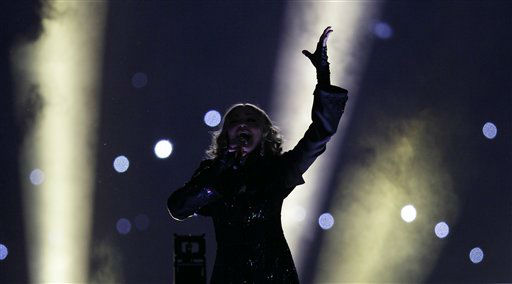 "<div class=""meta image-caption""><div class=""origin-logo origin-image ""><span></span></div><span class=""caption-text"">Madonna performs during halftime of the NFL Super Bowl XLVI football game between the New York Giants and the New England Patriots, Sunday, Feb. 5, 2012, in Indianapolis. (AP Photo/Mark Humphrey) (AP Photo/ Mark Humphrey)</span></div>"